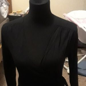 Black wrap around dress
